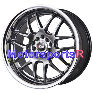 XXR 526 Chromium Black Rims Wheels Deep Dish Lip 5x120 5x114 3 5x4 5