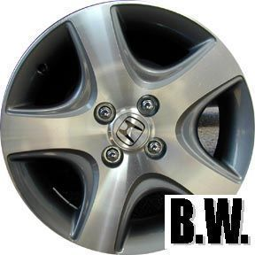 Civic 15 Machined Charcoal 5 Spoke Wheel Factory Rim 63868