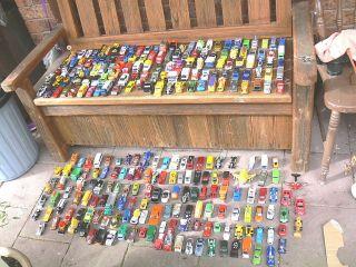 250 Assorted Cars Hot Wheels Corgi Tonka Matchbox Etc