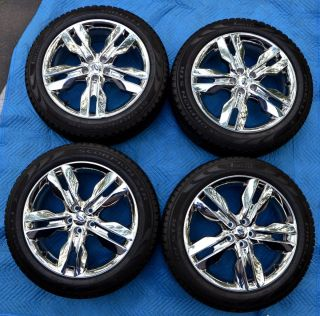 2012 Ford Edge Chrome Clad Wheel Rim and Tire Set of 4   NEW Take Offs