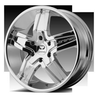 24 Chrome Rims Tires 6x135 Navigator Ford F150 Expedition Lorenzo