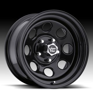 Soft 8 Black Steel Wheels Rims 5x5 5x127 Jeep Wrangler JK