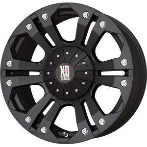 New 18x9 5x127 5x139 7 XD Monster Black Wheels Rims