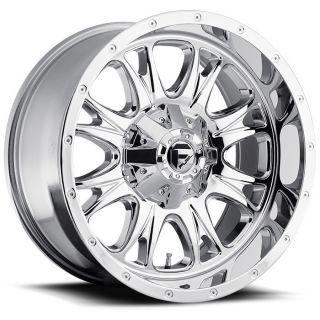 22 inch 22x9 5 Fuel Throttle Chrome Wheel Rim 8x6 5 8x165 1 Avalanche