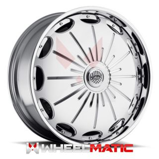 New Davin Spinners Surge 26x10 5x120 127 10 Wheels Rims Chrome