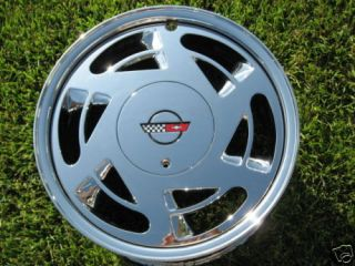 Chrome Corvette Wheels 17x9 5 Factory GM Rims Outright No Core
