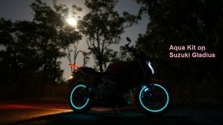 Style Motorcycle Wheel Rim Light Kit Better Than Rim Tape Aqua