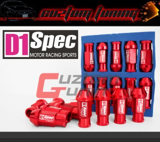 5mm x M12 Wheel Lug Nuts Red 20pcs Civic EG SI EF FD 8th Gen EK JDM