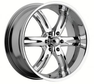 20 inch Akuza Dominion Chrome Wheels Rims 6x5 5 6x139 7 Sierra Yukon