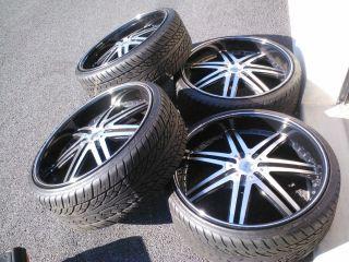 24inch rims tires fits dodge charger challenger magnum 300c crown