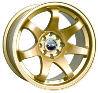 17 XXR 522 Gold Rims Wheels 17x9 42 5x100