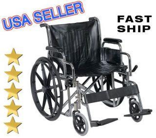 Bariatric 400 lb Capacity Heavy Duty 22 Wheels Padded Wide Seat