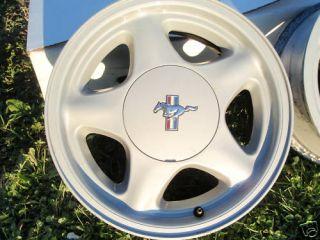 1979 1993 Ford Mustang Pony Aluminum Wheel Stock 4 Lug 16 5 Star