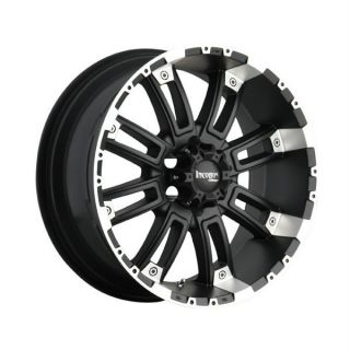 20 inch 20x9 Incubus Crusher Black Wheels Rims 5x150