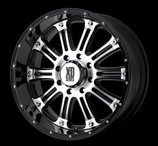 16 inch KMC XD Hoss Black Wheels Rims 8x6 5 8x165 1