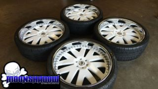 CUSTOM PAINTED WHITE 3 PIECE WHEELS RIMS CADILLAC ESCALADE GMC DENALI