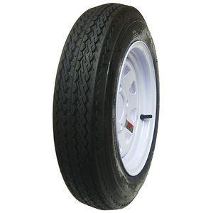 Tires St 225 75R15 Radial Tire w White Spoke Rims Wheels 15