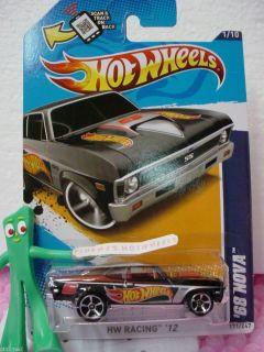 Chevy Nova SS 1968 171★NEW Black★hot Wheels Racing★scan