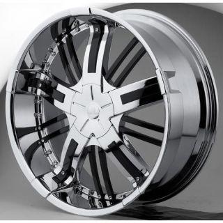 22 Hipnotic Zen Chrome Wheels Rims 300 Charger BMW 5