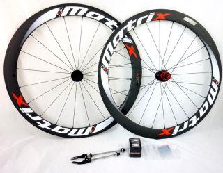 New Matrix Carbon TX50 700c Wheels Set Tublar Black White