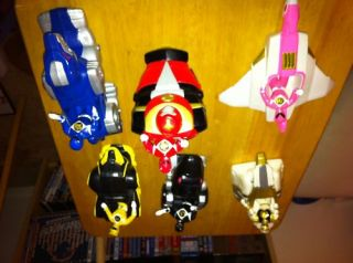 Mighty Morphin Power Rangers Six Toy Action Figures Ships Burger King