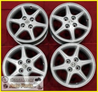 02 03 NISSAN ALTIMA SENTRA 16 SILVER 6 SPOKE WHEELS OEM RIMS SET 62383