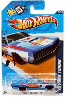 2012 Hot Wheels HW Racing 178 1970 Ford Torino