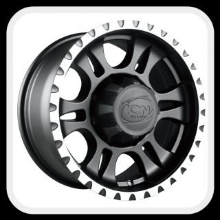 ION Alloys style 195 Wheels Rims 18x9, 5x5, matte black with machine