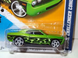 2012 Hot Wheels Dodge Challenger Concept Heat Fleet 153 Case N