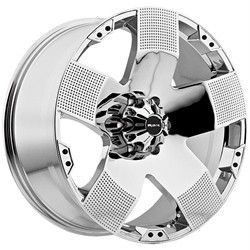 20 inch Ballistic Hyjak Chrome Wheels Rims 8x6 5 8x165 Dodge RAM 2500