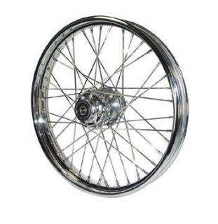 Chrome 40 Spoke 21 x 2 15 Front Wheel 80 83 Harley FXWG Dyna Wide