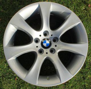 One BMW 18 Star Spoke Alloy Wheel Refurbished 5 Series E60 124 9J Rear