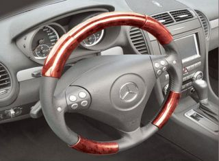 Toyota Avalon 00 04 Red Wood Grain Pattern Steering Wheel Cover