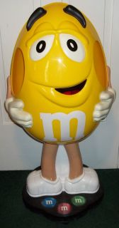 42 Yellow Peanut M&Ms Candy Store Display on Wheels Life Size M & Ms