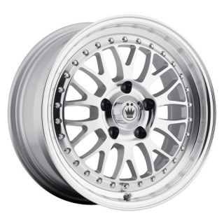 ROLLER WHEEL 4X100MM ET35 RIM SILVER FITS 4 LUG CIVIC INTEGRA MIATA