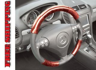 Chevrolet Corvette 77 82 Red Wood Pattern Steering Wheel Cover Parts