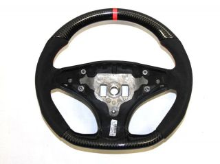 Mercedes AMG W204 C63 Alcantara Carbon Red Ring Steering Wheel 2008