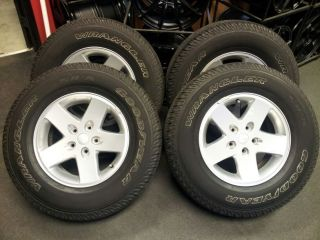 Set 17 Jeep Wrangler Rims Tires Goodyear Wrangler SRA Tires Balto