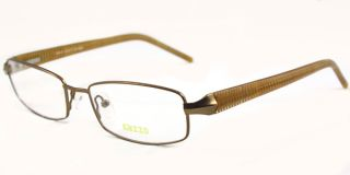 Mens Metal Optical Full Rim Eyeglass Frames Brown RX Able Glasses