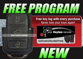 VW Remote Flip Key Keyless Entry Fob Transmitter