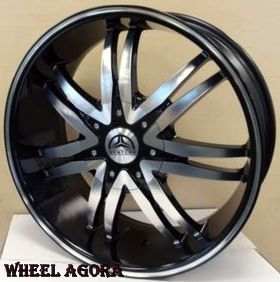 22 inch Wheel Rim Tire B14M Escalade Silverado F 150 Navigator Tahoe