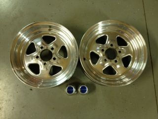 Drag Pro Star 15x6 Aluminum Front Wheels Street or Drag Race