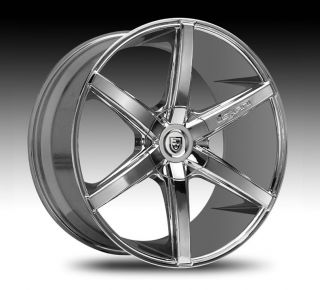 Chrome Wheel Set Staggered Rims for 5LUG Cars Chrome Rsix 20x10