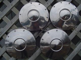 Fairlane Falcon Ford Dog Dish Hubcaps Wheel Covers Center Caps FoMoCo