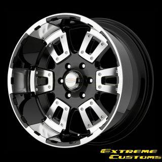 DI17 17 Karat Black Machined 5 6 8 Lugs Wheels Rims Free Lugs