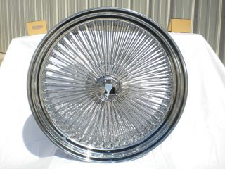 22 Dayton Chrome 22x8 Wire Wheels Full Set Rims New Rear Wheel Drive