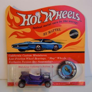 1969 Hot Wheels Hot Heap Redline Blister Nice