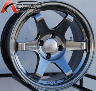 15x8 Varrstoen Wheels 4x114 3 Rim 15mm Offset Hyper Black Fits Nissan