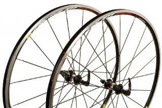Mavic Aksium Race Wheelset Black Rims Skewers Vittoria Tires Included