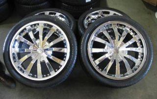 Used CEC C858 Chrome 22 Wheels Tires Range Rover